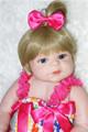 22 Fashion girl doll reborn full body silicone vinyl baby dolls kids bath doll toys bebe