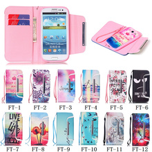 Holder PU Leather Credit Card Flip Protective Case Cover for Samsung S3 #77436(China (Mainland))