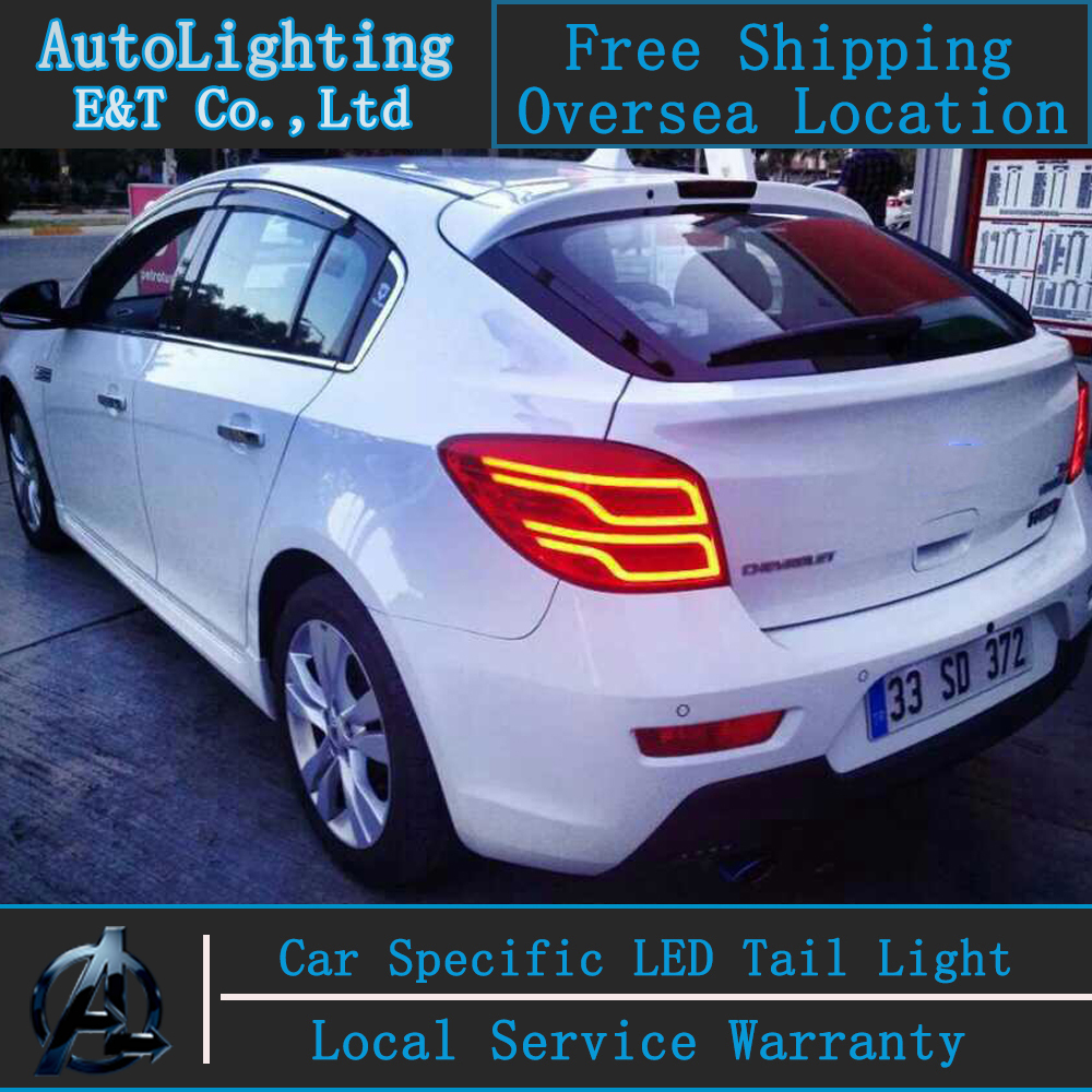 Auto Lighting Style LED Tail Lamp for Chevrolet Cruze led tail lights Hatch Back rear trunk lamp cover drl+signal+brake+reverse(China (Mainland))