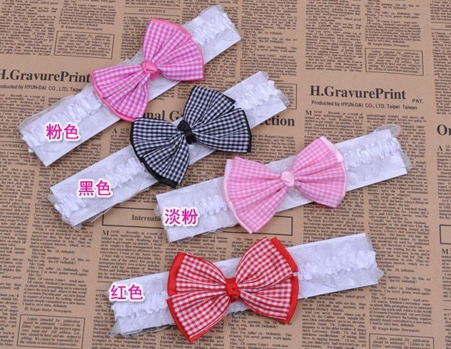 Freeshipping!! NEW bow elastic headbands/ baby/infant hairband /Hair Accessories/hair wear / Wholesale(China (Mainland))