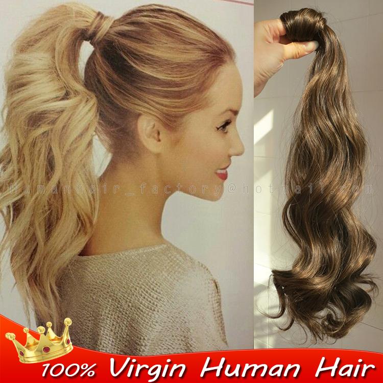 Ponytail Extension Real Human Hair Human Hair Extensions