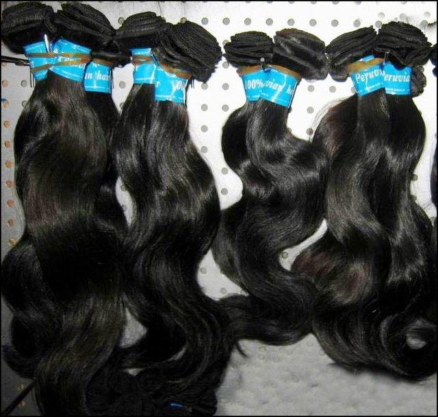 """7A WestKISS Peruvian Virgin Human hair unprocessed 4pcs/lot 12""""-30"""" body wave wefts can be dyed &bleached"""