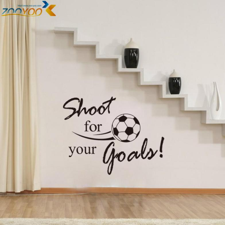 Shoot for football Kick soccer goals wall stickers home decor diy removable vinly wall decals kids