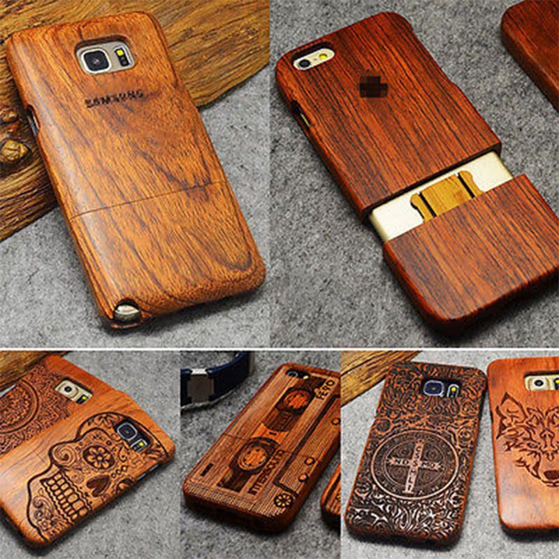 Wood Case For Samsung Galaxy S5 S6 S7 Edge Plus Note 5 4 3 Bamboo Carving 100% Natural Phone Case For iPhone 5 5S SE 6 6S 7 Plus(China (Mainland))