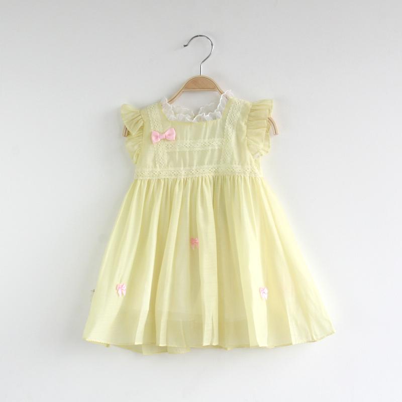 Girls Lace Summer Dress Fashion Princess Dress Girls Clothing 6pcs /LOT<br><br>Aliexpress