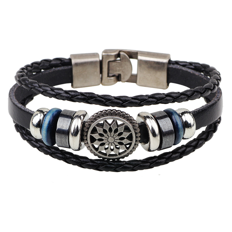 High Quality Bracelets Fashion Jewelry Leather Men Bracelets for Women Best Friend Gift Summer Style(China (Mainland))