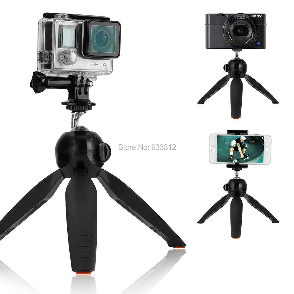Original YunTeng Tripod+Universal Holder Clip For iPhone 6 Plus 6S 5S 5C 4S SE&For <font><b>Samsung</b></font> S6 S4 S3 MINI A5 A3 A7 /<font><b>DSLR</b></font> Camera
