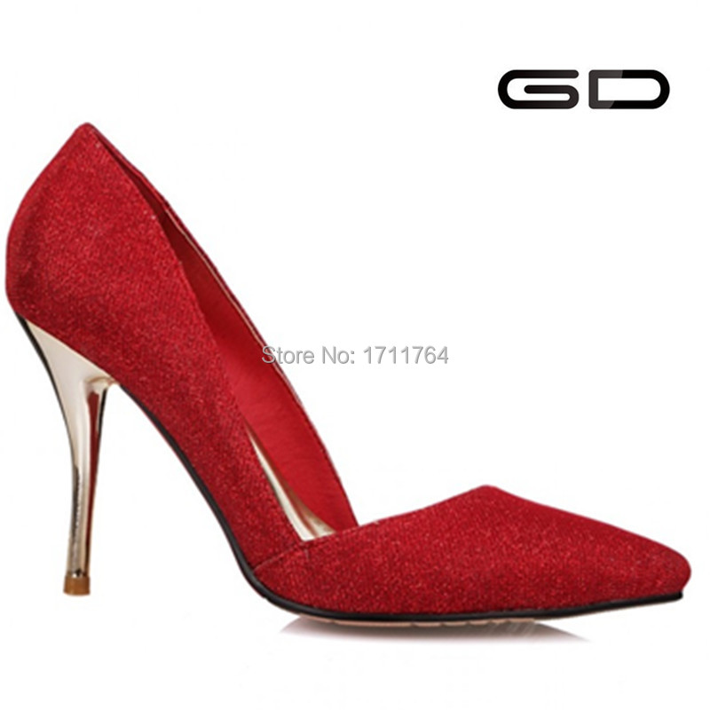 GD fashion fair lady party shoe high heel balck blue red color high heels and sexy sandals Song and dance party center you are(China (Mainland))