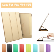 Luxury Ultra Slim Magnetic Smart Flip Stand PU Leather Cover Coque for Apple IPad Mini 1 2 3 Case Cuero for I Pad Capa De Funda(China (Mainland))