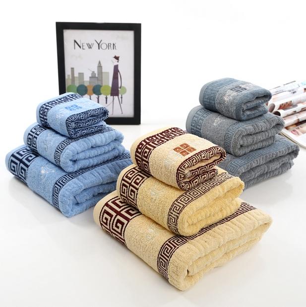 3pcs, Towel set, cotton embroidered towel 70 * 33cm, children's bath towel 100 * 50cm, adult bath towel 135 * 70cm(China (Mainland))
