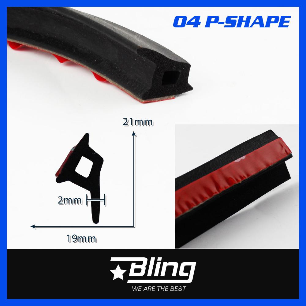 Auto Car Noise Insulation Door Edge P-Pillar EPDM Rubber Seal Strip 600CM Airtight Damping Weatherstrip Universial 240<br><br>Aliexpress