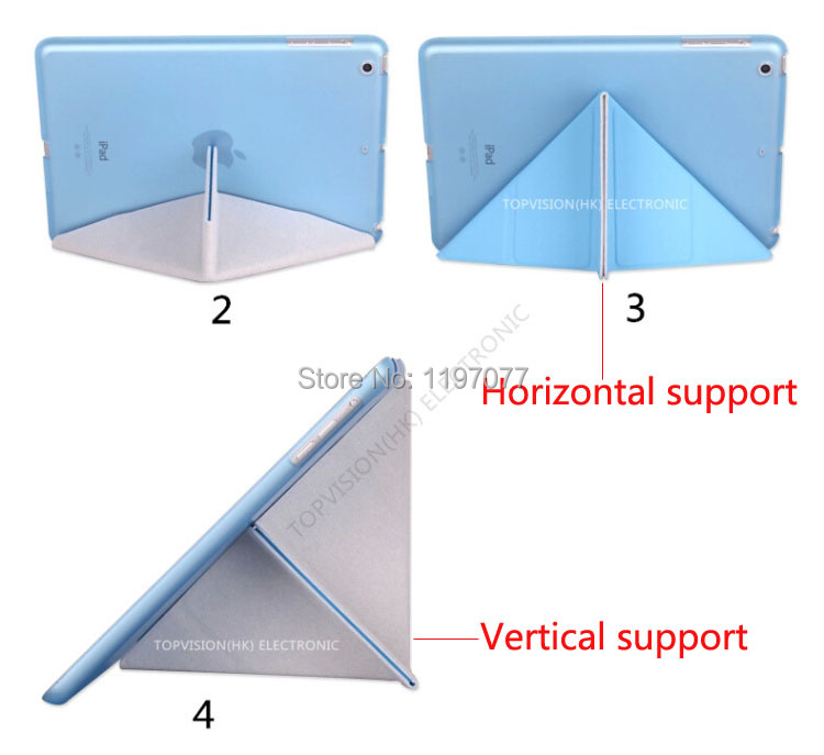High quality vertical support slim magnetic for apple ipad air 1 smart case for ipad air