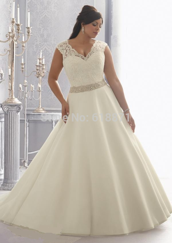 Plus size princess wedding dress 2015 romantic vestido de for Princess plus size wedding dresses