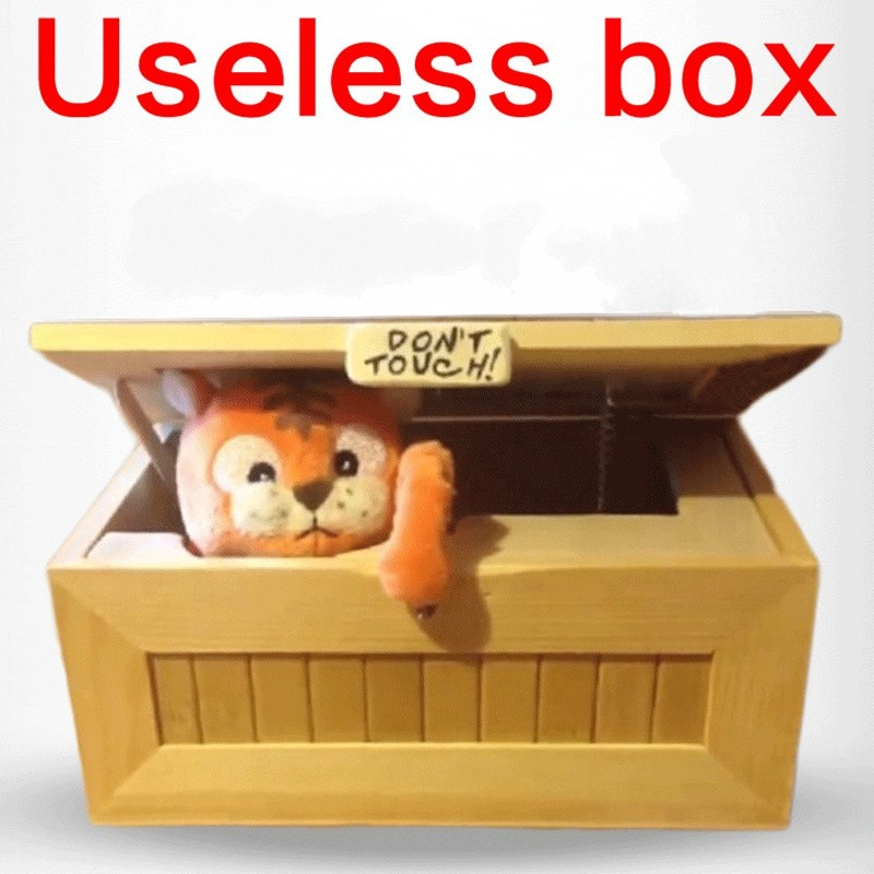 2016 Fashion Cartoon Tiger Useless Box Creative Adult Gifts Gags And Practical Jokes Funny Toys For Friends and Kids(China (Mainland))