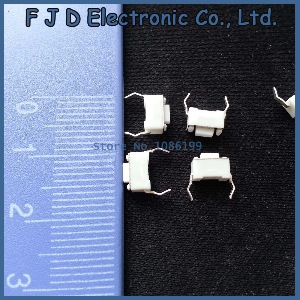 1000pcs/lot 3*6*4.3mm Tact switch 2P Micro Switch 2-DIP switch reset button Remote control button touch  Switch 2 feet pins