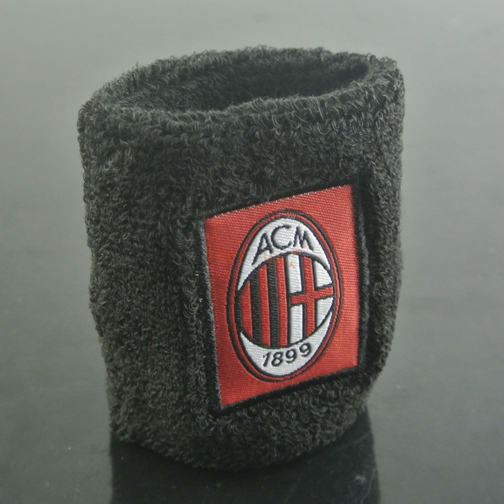 Hot Sale Cotton AC Milan Wristband Sports Sweatband Wrist Band Wrist Protective Football Souvenir Favor New(China (Mainland))