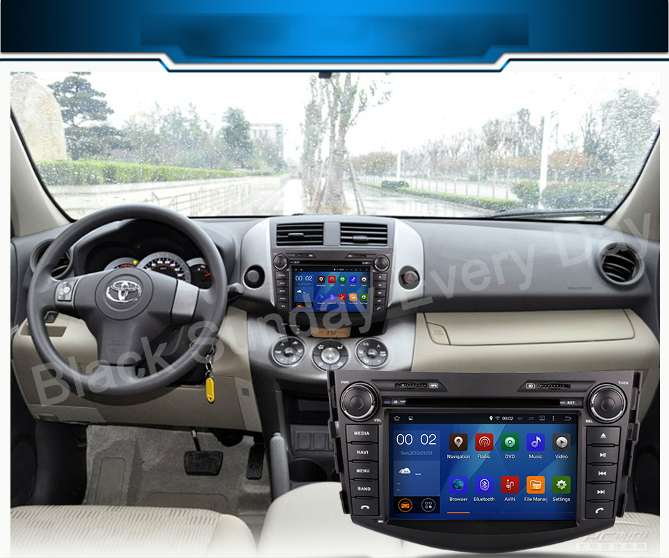"""7""""Android 5.1.1 Quad Core 2 din Car DVD Player touch Screen 1080P Video Navigator With Screen Mirroring for Toyota RAV4(China (Mainland))"""
