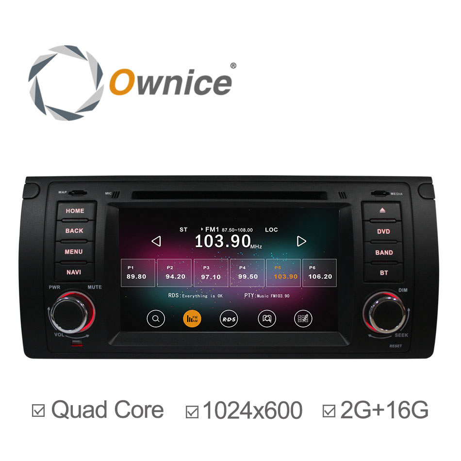 Ownice C200 Android 4.4 4 Core Car DVD GPS Navigator For BMW 5 Series E39 X5 E53 M5 with Radio Player Support DVR 2G/16GB HD(China (Mainland))