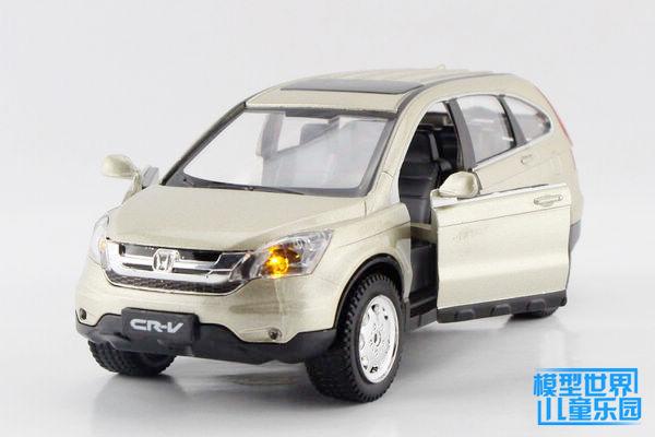 Diyaduo simulation model of children's toys Honda 1:32 alloy automobile CRV two door version of the gray light green back light(China (Mainland))