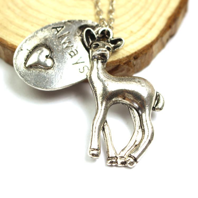 Freeshipping Harry Potter bronze Always deer necklace inspired ,Always Said Snape Bronze Deer Doe NecklaceA6-2-XL-441(China (Mainland))