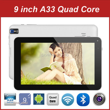100pcs/lot Wholesale Cheap 9 Inch Tablet PC Android 4.4 Allwinner A33 Quad Core RAM 512M 8G ROM Bluetooth Dual Camera Flahlight(China (Mainland))