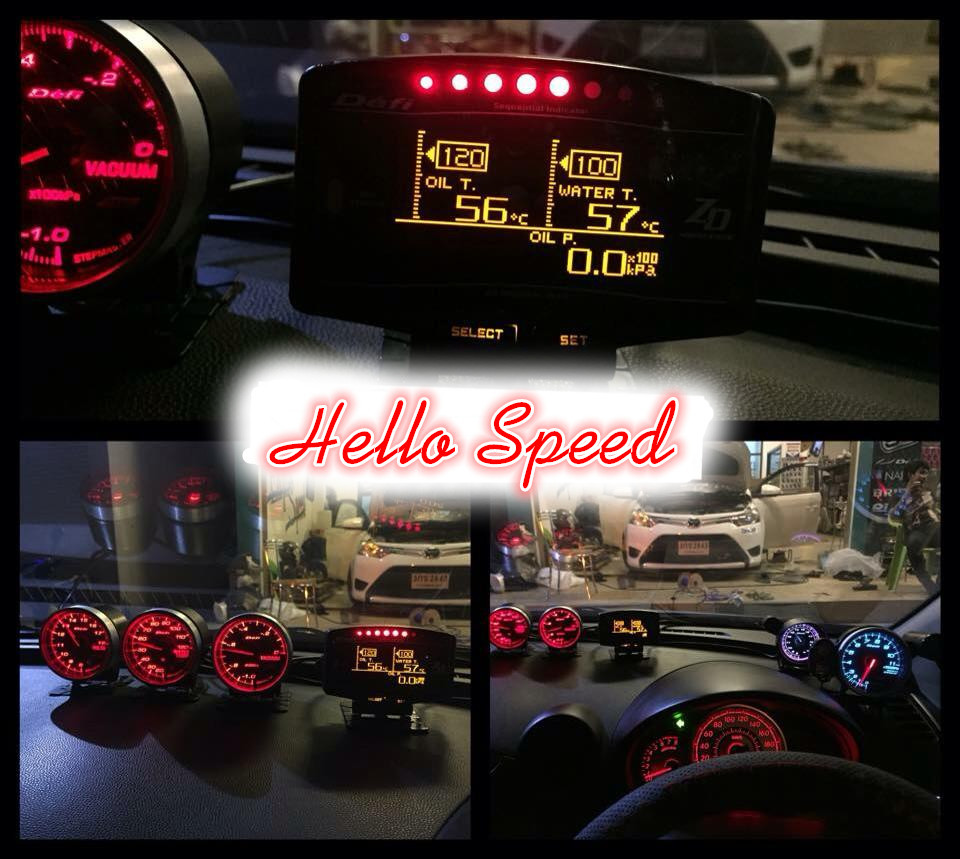 digital gauge wideband defi zd volt/water temp/oil temp/oil press/tachometer/speedometer/boost/air fuel ratio/egt/bf c2 cr a1(China (Mainland))