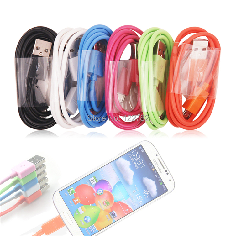 Color Universal 5 Pin USB Connection Charge USB Cable Round Style 100CM Durable Cable For Samsung,For MP3,5 Pin Usb Port Phone(China (Mainland))