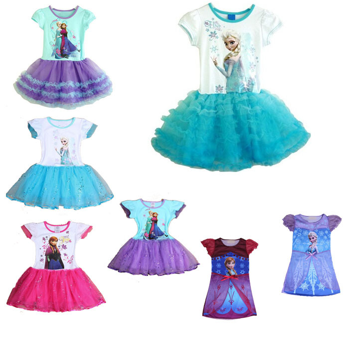 One Piece Girl Dress 2015 New snow queen Kids Clothes Movie Cosplay Party Princess Tutu Girls Dresses Costumes - junhao Co. Ltd store