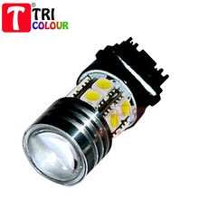 TRICOLOUR DHL FREE! 3156 3157 CREE 7w +12 5050 SMD White LED CAR BACKUP LIGHTS PROJECTOR bi xenon LENS #G02016(China (Mainland))