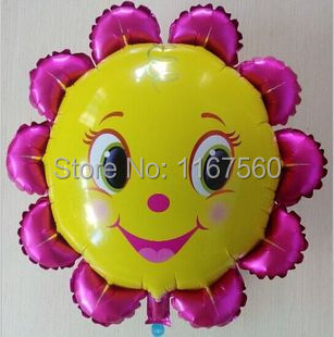 18 inch Sunflower Aluminum Balloons Foil Wedding Birthday Party Large Balls Christmas Gifts baby toys - Key123 store