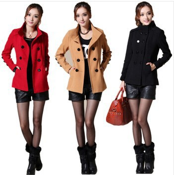 Plus size clothing spring 2014 trench mm top medium-long woolen outerwear wool coat sobretudo casaco - I&Fashion store