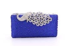 Luxury Crystal Evening Bag Peacock Clutch diamond party purse pochette soiree Women evening handbag wedding clutch bag