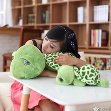20cm 1PCS Educational Soft Cotton Army Green Big Eyes Turtle Plush Toy Turtles Animal Doll Best Christmas Gift (China (Mainland))