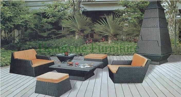 New pe wicker patio sofa set furniture manufacturer from China(China (Mainland))