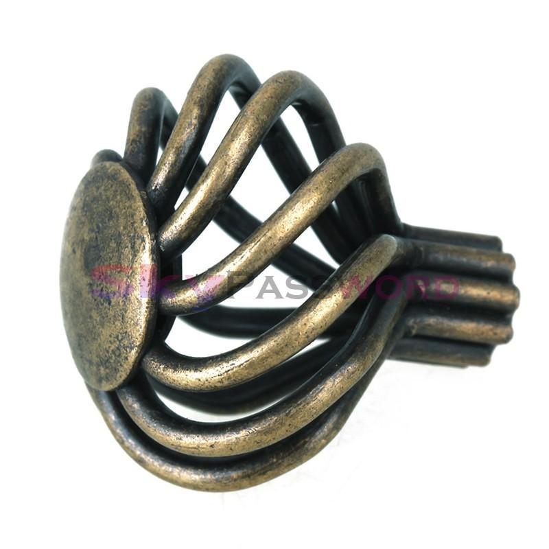2pcs 35 * 35mm Green bronze handle / European-style garden handle / kitchen drawer handle / DIY household hardware accessories(China (Mainland))