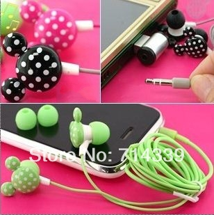 Amazing price!10pcs/lot 3.5mm Newly Cute Cartoon Mickey in-ear Earphone Headphone mutil Colors For Free Shipping(China (Mainland))