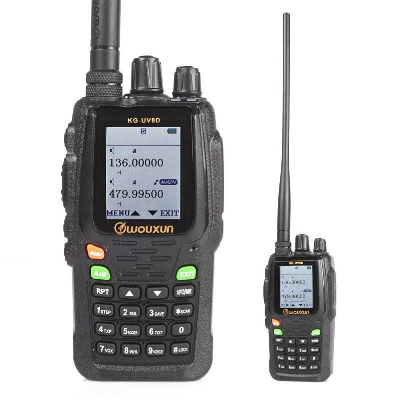Cheap Walkie Talkies Set Wouxun KG-UV8D Portable Handheld Two Way Radio Dual Band 136-174/400-520MHz UHF/VHF CB Ham Walki Talki(China (Mainland))