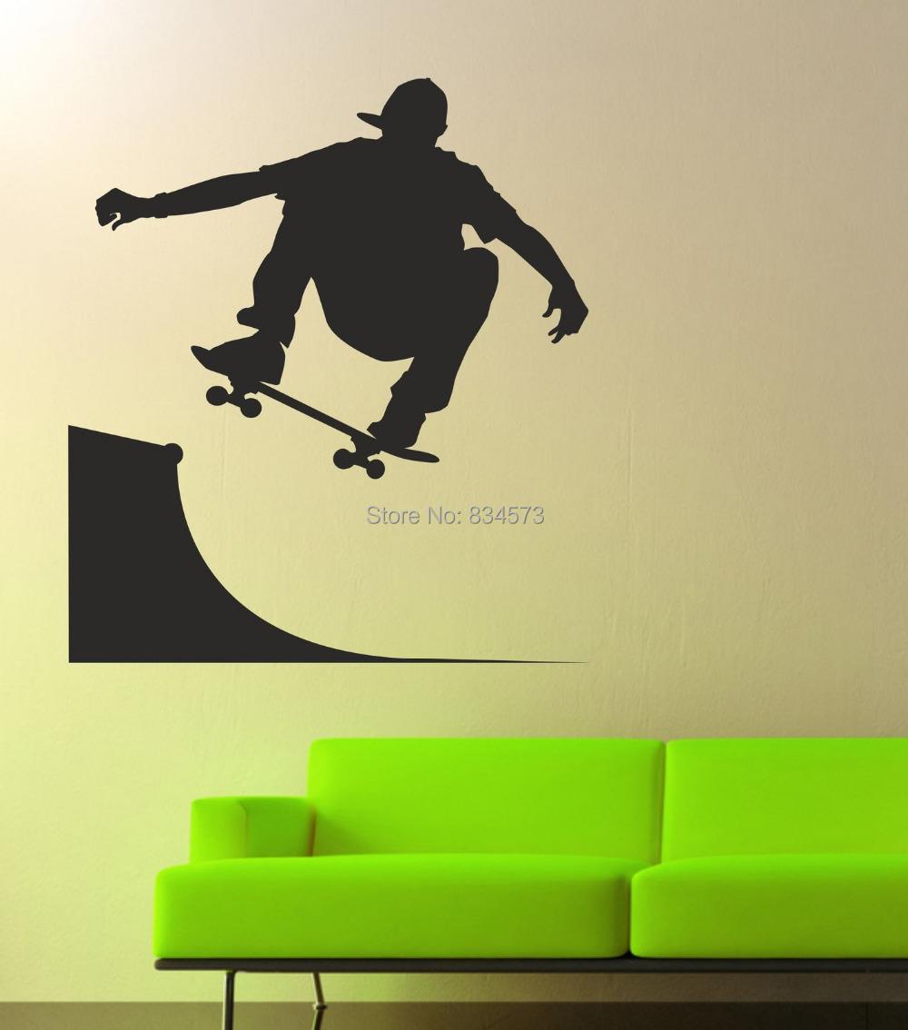 Skateboard Wall Art Stickers - skateboard boy wall stickers art ...