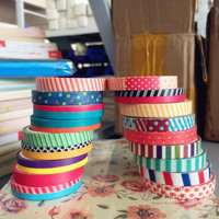 18 pcs Various 7mm*5m washi tape pack Scotch masking tapes for diary frame scrapbooking Deco sticker Zakka Stationery 6872