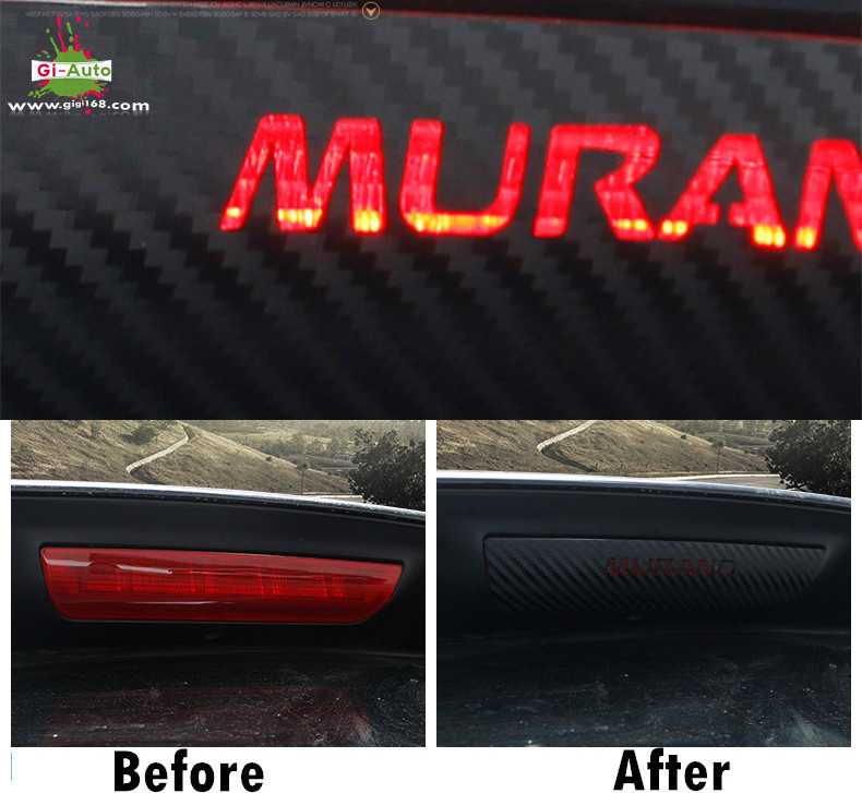 For Nissan 2015/16 All new MURANO High quality carbon fiber paper car brake light car sticker-1pcs(China (Mainland))