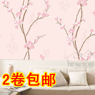 Free shipping Pink pvc wallpaper furniture stickers waterproof wallpaper background wall 8 meters 2014 hot selling(China (Mainland))