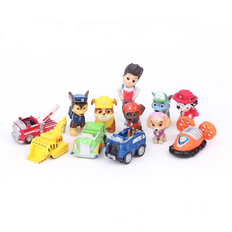 3-5CM New Toys 12 Pcs/Set Patrol Puppy Dog Toy Childrens Anime Action Figure Toy Mini Figures Patrol Dog Model Toys(China (Mainland))