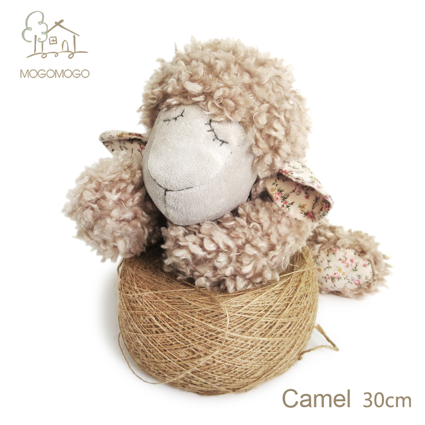 30cm hand-made cute camel sheep plush toys mainly for famous brand,stuffed animals, doll/toy 100% linen plush toys(China (Mainland))