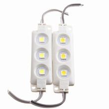 Injection Molding Waterproof 3LED 5050 SMD Module Pure Warm White Decorative Light Lamp DC12V(China (Mainland))