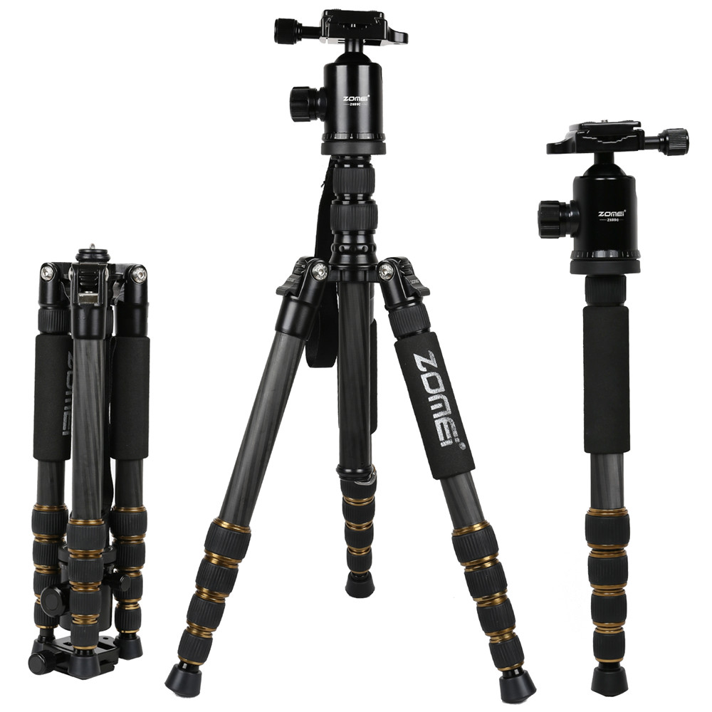 Zomei Z669c Portable Carbon Tripod Monopod Kit &amp; Ball Head Compact Travel for All Canon Sony, Nikon DSLR Cameras <br><br>Aliexpress