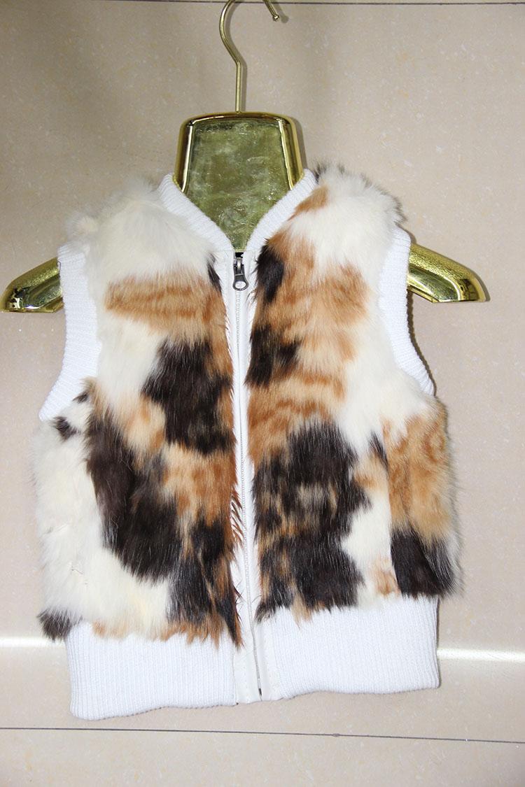Real Rabbit Fur Fur Vest Children's Clothes Girl and Boy Rabbit Fur Vest Child Wholesale and retail(China (Mainland))