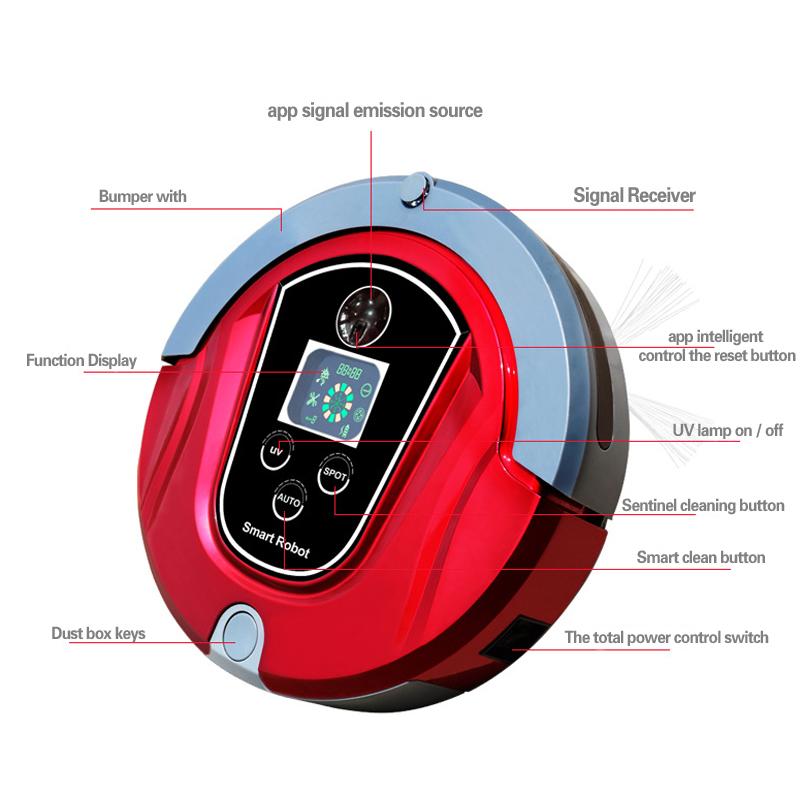 New GTM8 Smart Control Wifi Wet Robot Vacuum Cleaner Robot Intelligent Vacuum Cleaner Household Cleaners Robot Vacuum Cleaner(China (Mainland))