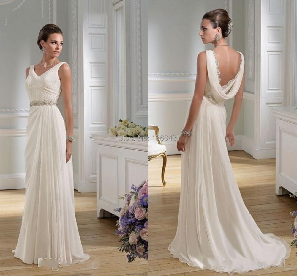 Wedding Dress Elegant Classic : Dynamic elegant classic v neck bridal gowns a line wedding dress