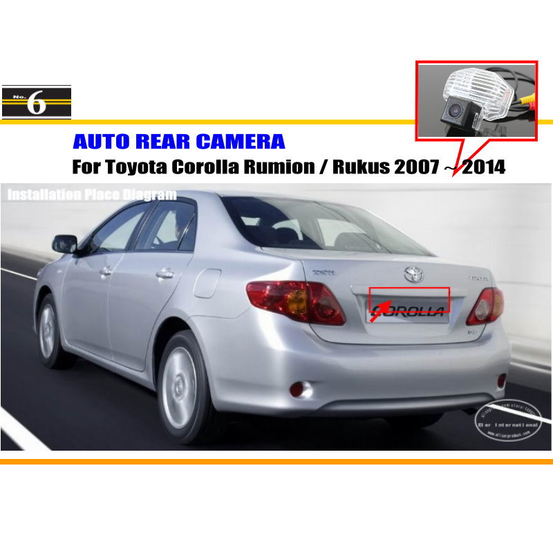 Car Rear View Camera / Back Up Reverse Parking Camera For Toyota Corolla Rumion 5 Dr Compact MPV 2007~2015 HD CCD Night Vision