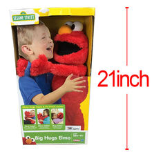 53CM Cartoon Sesame Street Elmo Talks animated phrases & sounds nap time Plush Toys Soft Stuffed Dolls Children Gifts Brinquedos(China (Mainland))